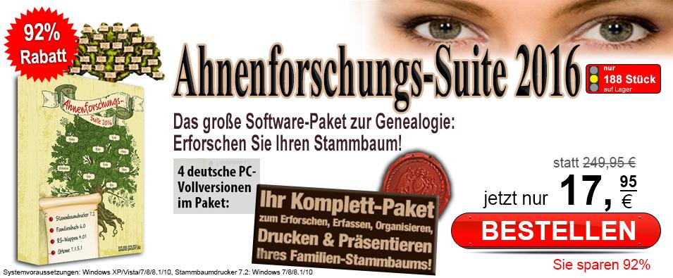 Ahnenforschungs suite statt eur 219 95 jetzt f r nur eur 17 95 - Banner drucken freeware ...