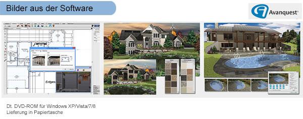 Architekt 3d x7 professional 3d haus gartenplaner for Architekt 3d gartenplaner