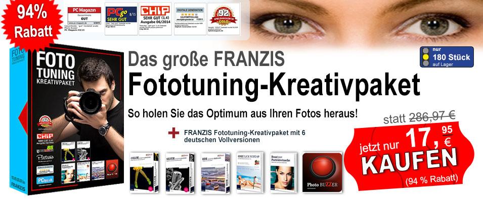 94% Rabatt! Das große FRANZIS Fototuning-Kreativpaket.